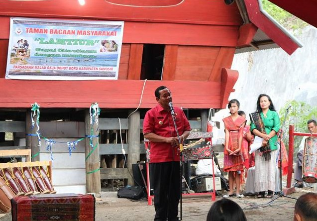 Parsadaan Malauraja Kecamatan Pangururan Mendirikan Taman Bacaan Masyarakat (TBM) Lamtiur