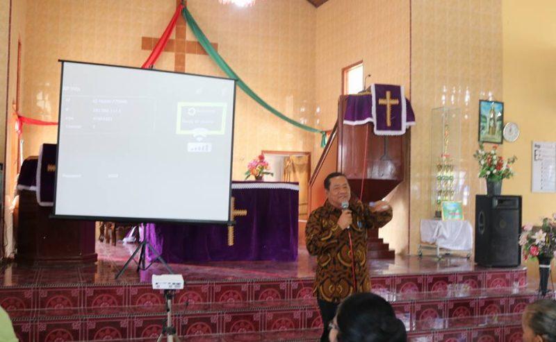 Sosialisasi Program Pembangunan Kabupaten Samosir Di Gereja HKBP Mogang – Palipi