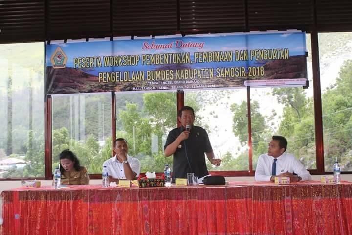 Workshop Pembentukan, Pembinaan Dan Pengelolaan BUMDES Kabupaten Samosir 2018
