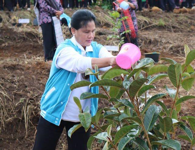 Ibu Negara Iriana Joko Widodo Berkunjung Ke Kabupaten Samosir ** Menggunakan Kapal Parawisata Samosir Menyeberangi Danau Toba