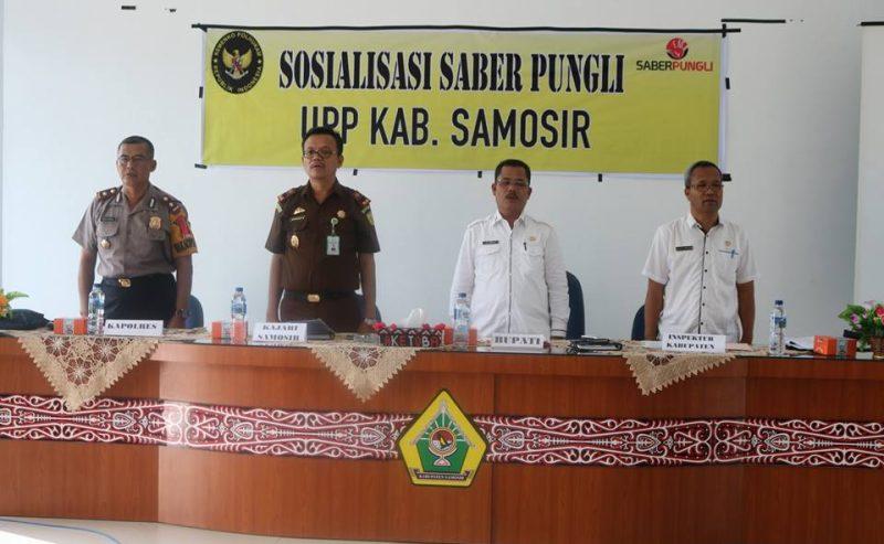 Sosialisasi Saber Pungli Di Kabupaten Samosir.  Sekda : Hilangkan Pungli Di Samosir Khususnya Di Daerah Wisata.