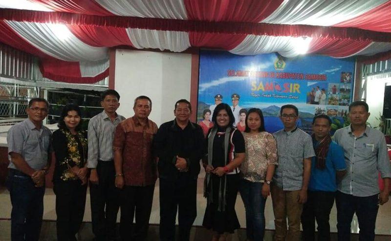 Bupati Samosir Menerima Audiensi Panitia Festival Budaya Leluhur Batak.  ** Festival Budaya Leluhur Batak Akan Dilaksanakan Mulai Tanggal 4-10 Juli 2018 Di Samosir