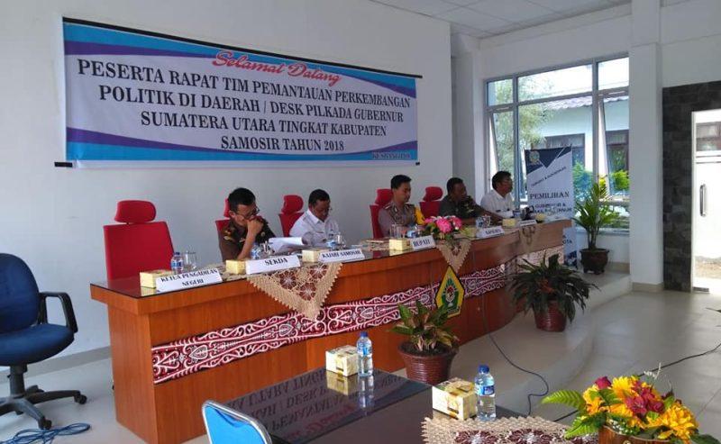 Rapat Desk Pilkada GUBSU Kabupaten Samosir