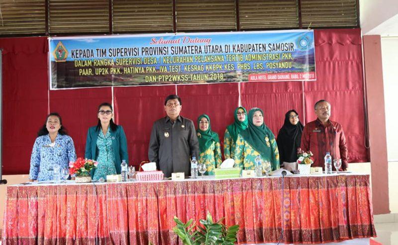 Kunjungan Tim Supervisi TP PKK Propinsi Sumatera Utara Tahun 2018 Di Kabupaten Samosir Wakil Bupati Samosir : PKK Kabupaten Samosir Sudah Bekerja Sangat Maksimal.